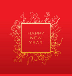 Chinese new year greeting card elegant vector