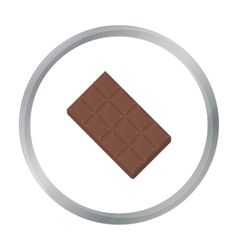 Chocolate icon in cartoon style for web vector image