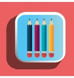 Colorful pencils icon vector image
