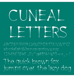 Cuneal letters and numbers vector image
