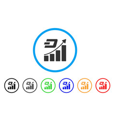dash growth trend rounded icon vector image