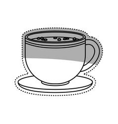Delicious coffee drink vector