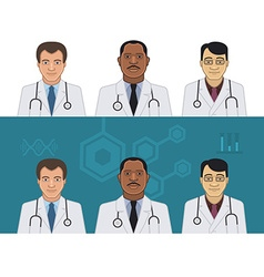 Doctors Avatars vector image