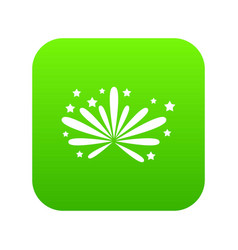 fireworks icon digital green vector image