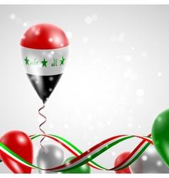 Flag of Iraq on balloon vector