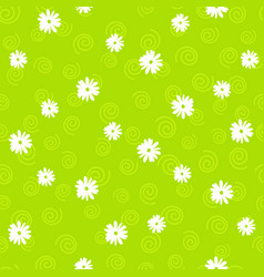 floral seamless pattern in doodle style on vector image