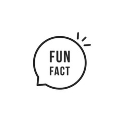 fun fact thin line black bubble vector image