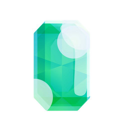 Green gemstone icon cartoon style vector