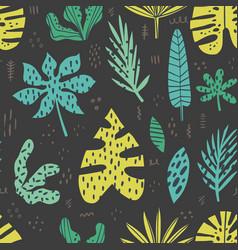 hawaii hand drawn seamless pattern vector image