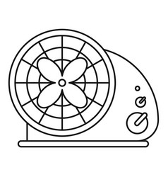 Heat fan icon outline style vector