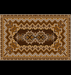 Luxurious motley oriental carpet in brown shades vector