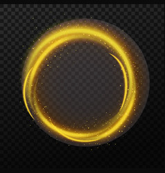 magic sparkle circle and shining stardust golden vector image