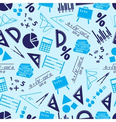 mathematics icons blue seamless pattern eps10 vector image