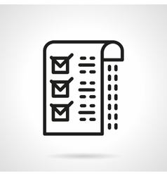 Medical checklist black line icon vector