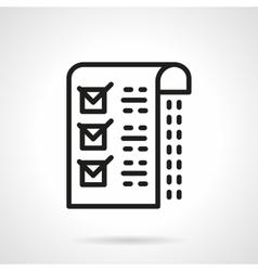 Medical checklist black line icon vector image