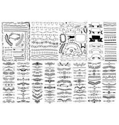 mega set hand drawing doodle sketch design vector image