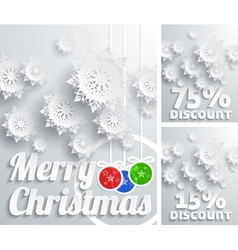 Merry Christmas background discount set vector