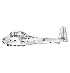 messerschmitt me 323 gigant vector image