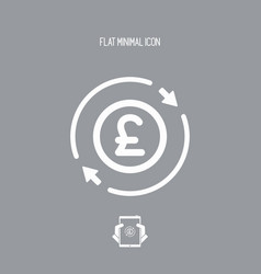 Money trade flat icon - sterling vector