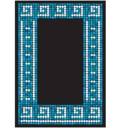 mosaic frame - portrait border vector image