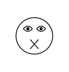 Muted emoticon vector
