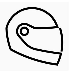 Outline beautiful helmet icon vector