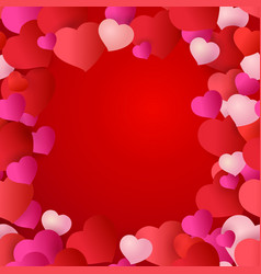 pattern with red hearts for wedding cards vector image