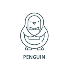 penguin line icon linear concept outline vector image