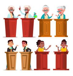 Politicians speakers tutors cartoon vector