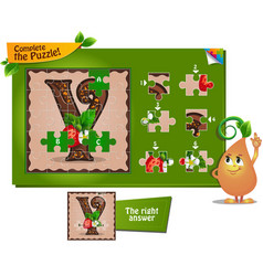 Puzzle letters of the alphabet y vector