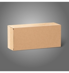 Realistic blank paper craft package box Isolated vector