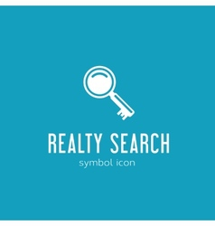 Realty Search Concept Symbol Icon or Logo Template vector
