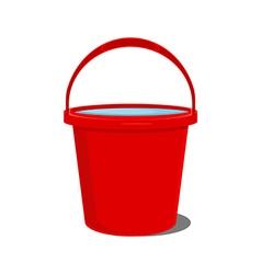 Red bucket icon vector