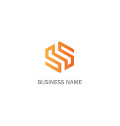 s sign abstract logo vector image