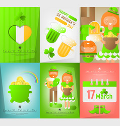 set posters for patricks day vector image