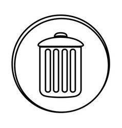 Silhouette symbol can trash icon vector