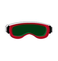 Ski glasses or goggles winter snow sport mask vector