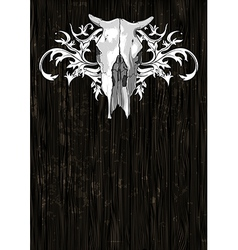 skull cow decorative vector image
