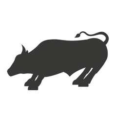 Stock bull isolated icon design vector