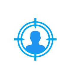Target audience potential client icon vector