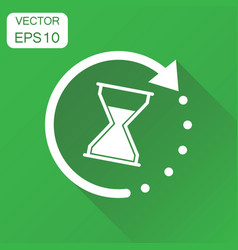 time sandglass icon business concept clock vector image