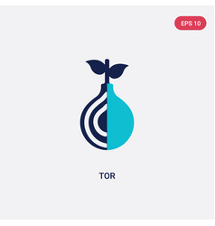 Two color tor icon from blockchain concept vector