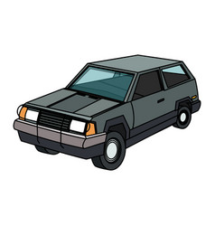 vintage 90s style car icon image vector image
