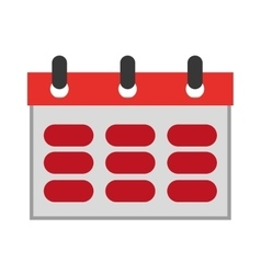 wired red calendar vector image