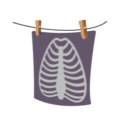 X-Ray of a human rib cage cartoon icon vector image