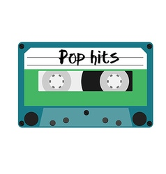 Cassette pop hits vector image
