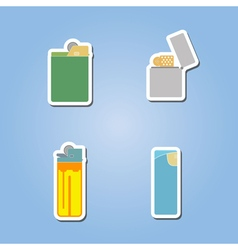 Color icon set with lighter vector