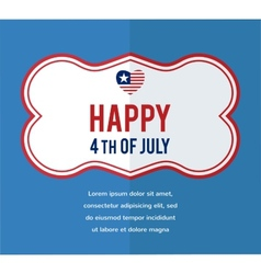 HAPPY independence day of America vector image