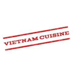 Vietnam Cuisine Watermark Stamp vector image