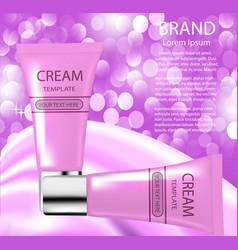 advertising cosmetics cream sparkling background vector image